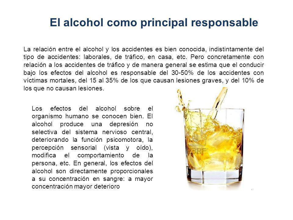 El alcohol como principal responsable