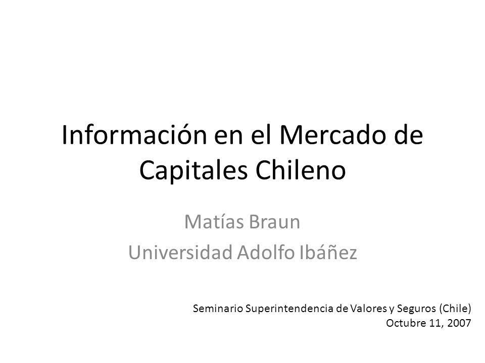 Información en el Mercado de Capitales Chileno