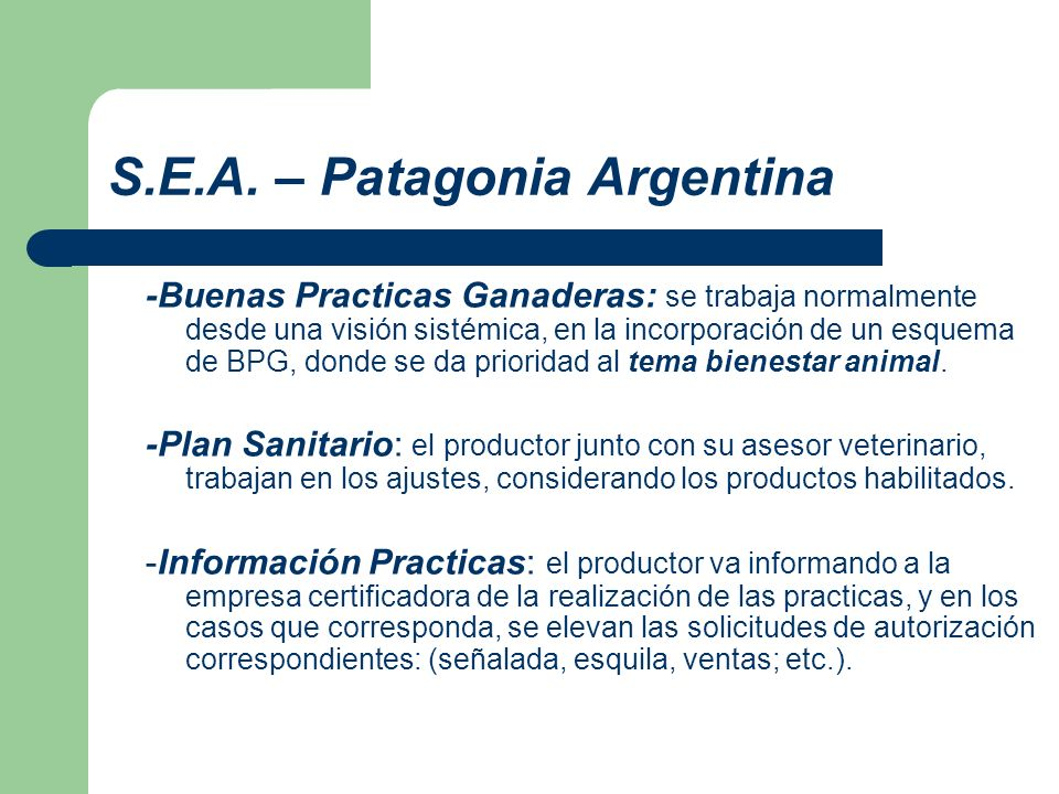 S.E.A. – Patagonia Argentina