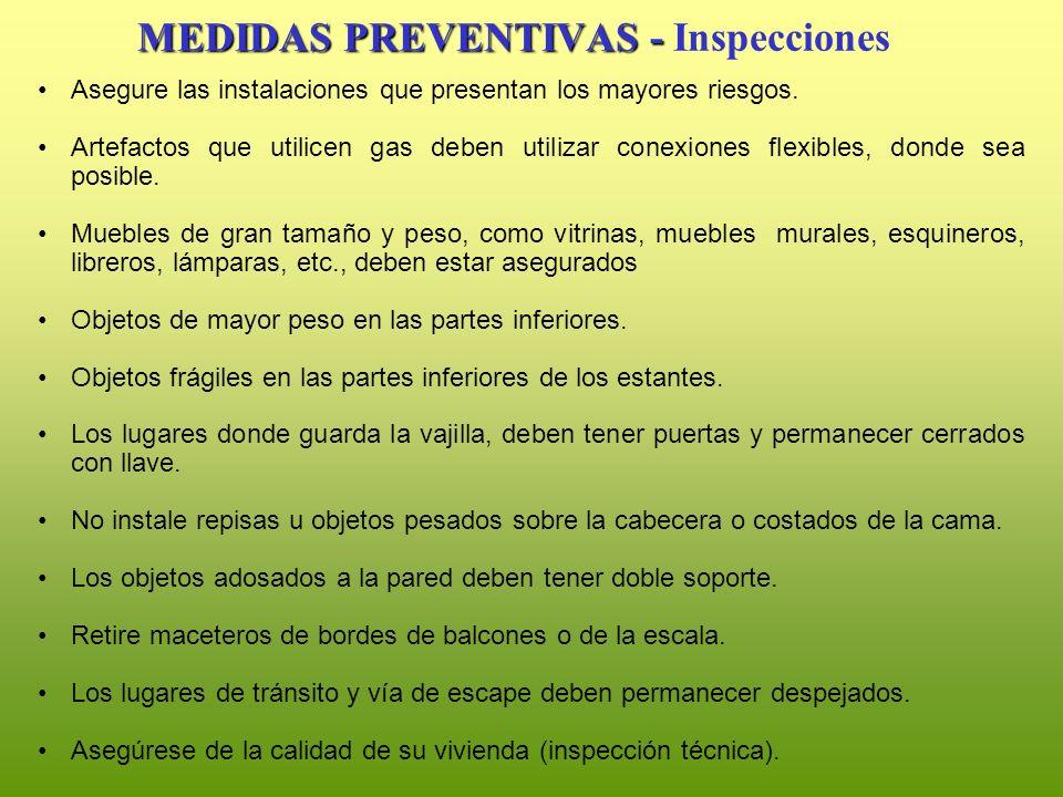 MEDIDAS PREVENTIVAS - Inspecciones