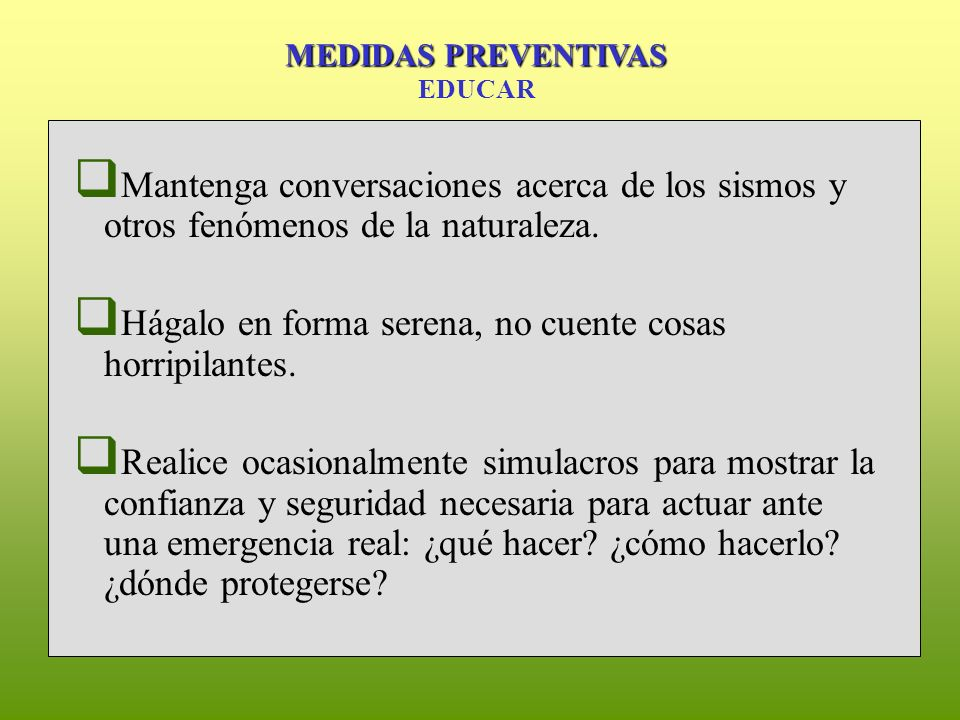 MEDIDAS PREVENTIVAS EDUCAR