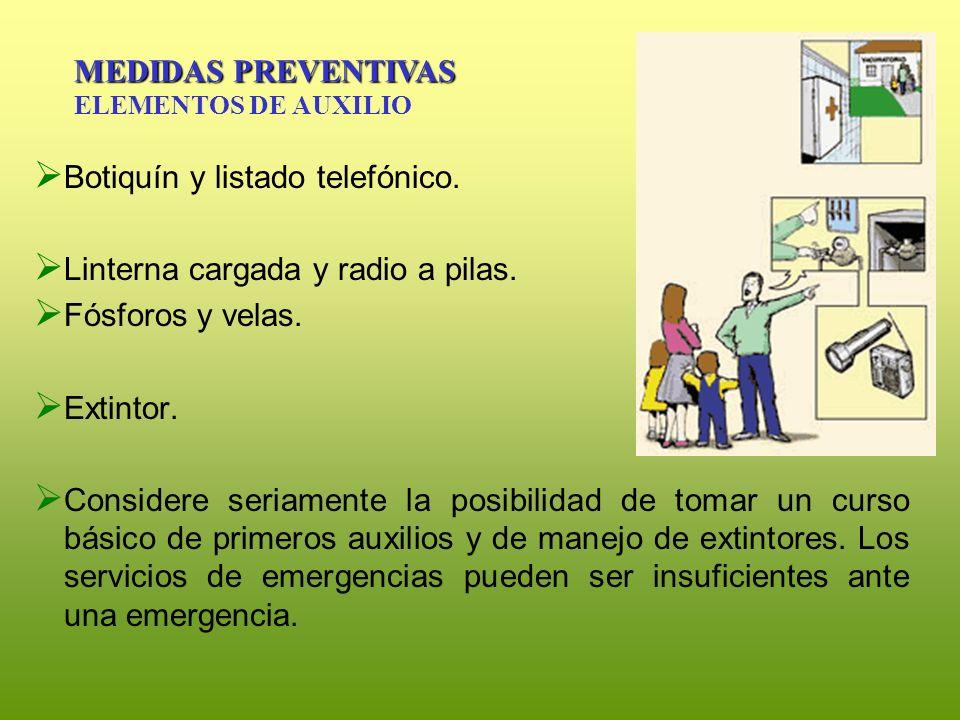 MEDIDAS PREVENTIVAS ELEMENTOS DE AUXILIO