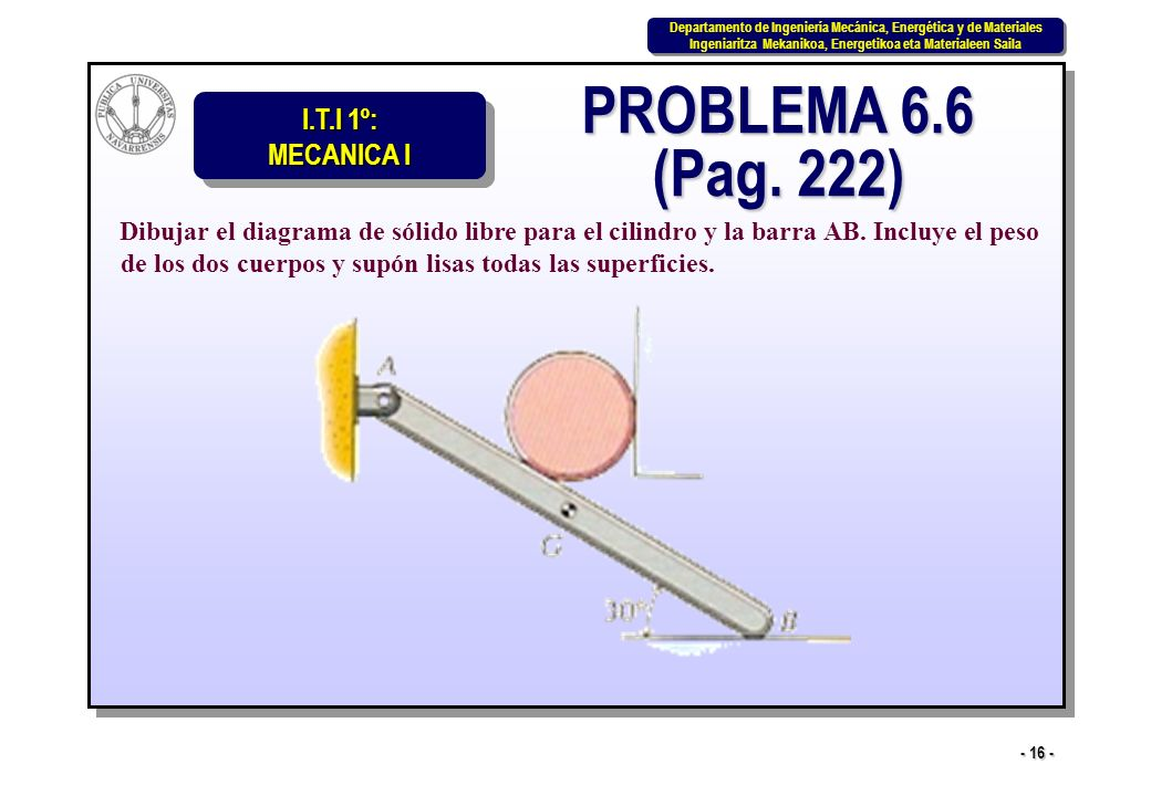 PROBLEMA 6.6 (Pag. 222)