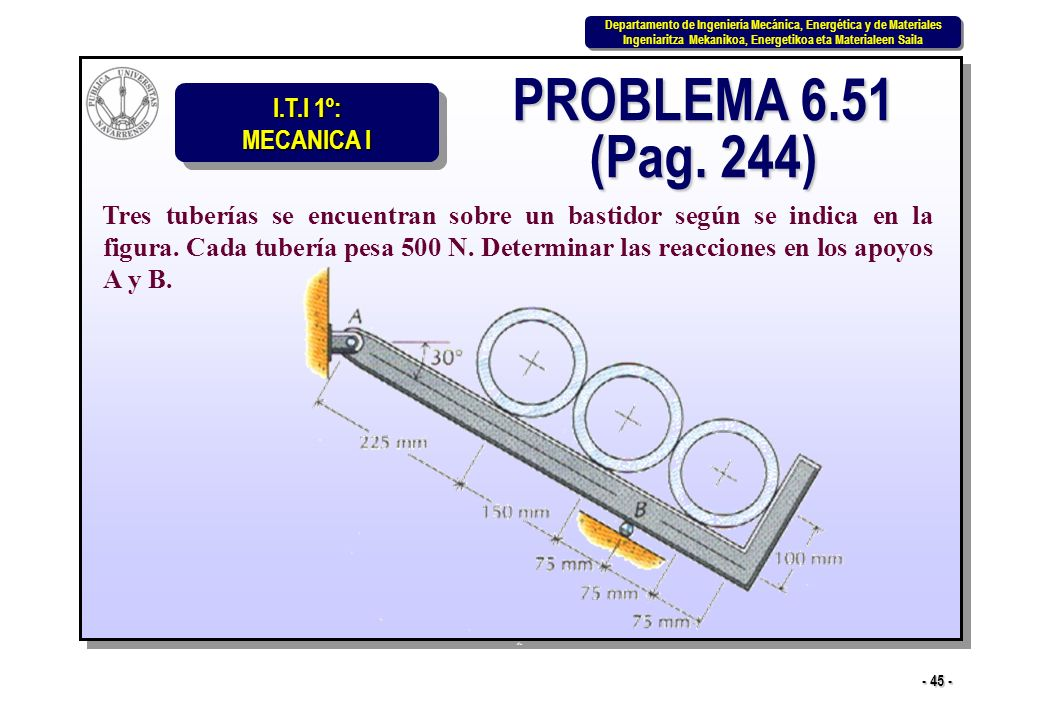 PROBLEMA 6.51 (Pag. 244)