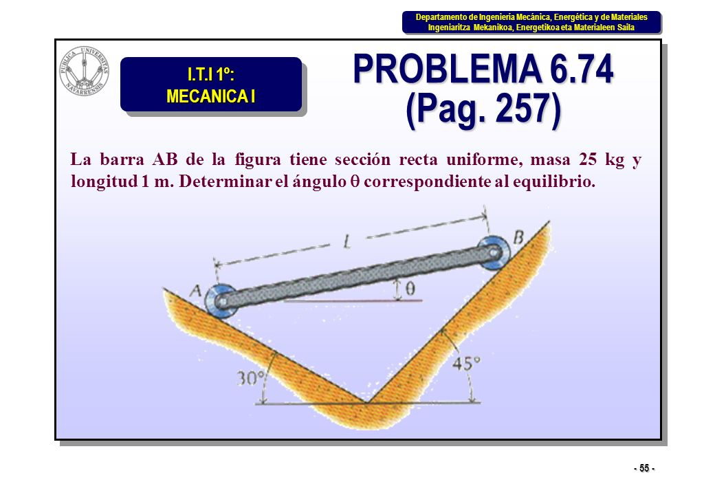 PROBLEMA 6.74 (Pag. 257)