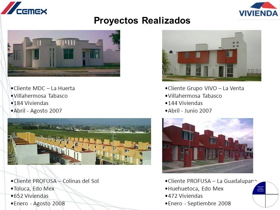 Proyectos Realizados Cliente MDC – La Huerta Villahermosa Tabasco