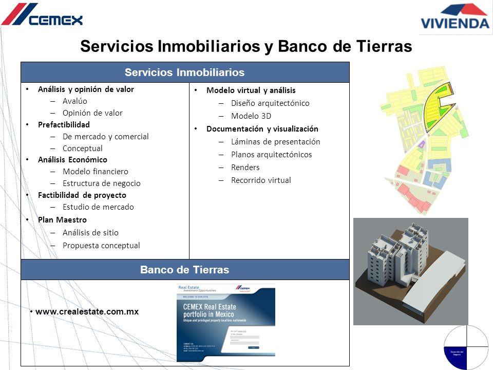 Servicios Inmobiliarios y Banco de Tierras
