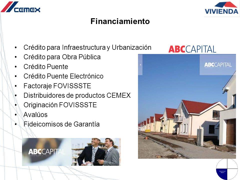 Financiamiento Crédito para Infraestructura y Urbanización