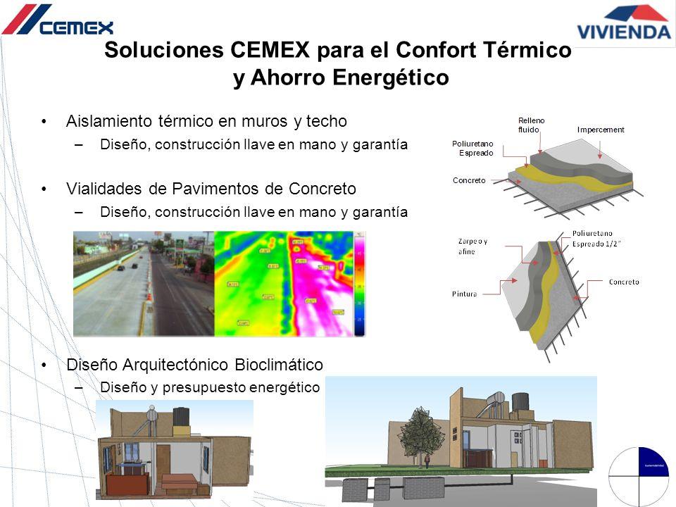 Soluciones CEMEX para el Confort Térmico