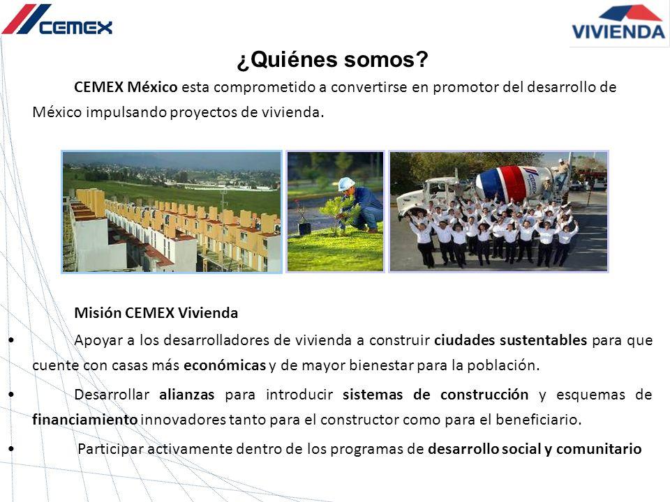 ¿Quiénes somos Misión CEMEX Vivienda