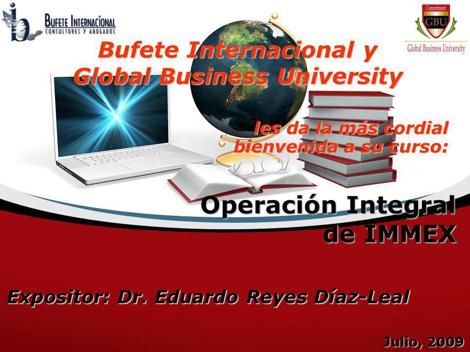 Operación Integral de IMMEX