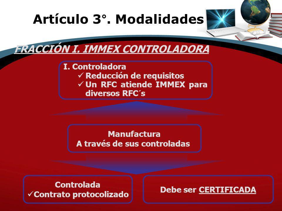 Artículo 3°. Modalidades