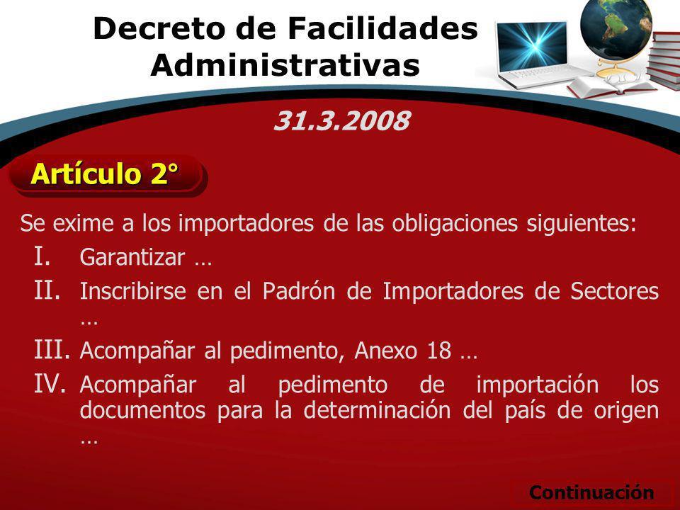 Decreto de Facilidades Administrativas