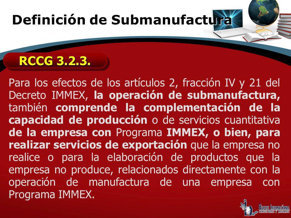 Definición de Submanufactura