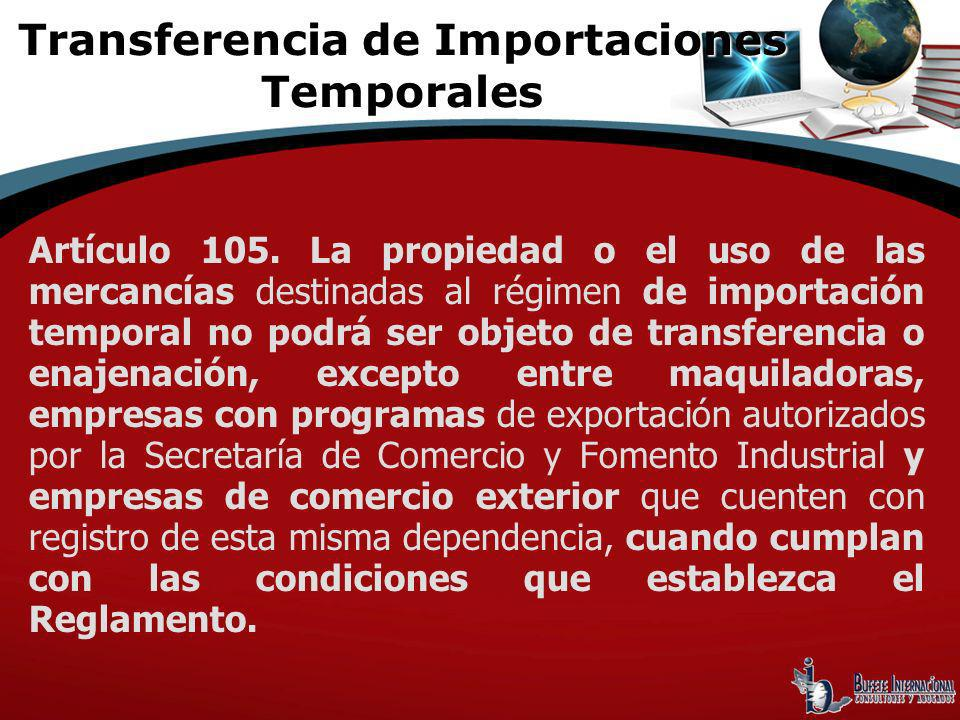 Transferencia de Importaciones Temporales