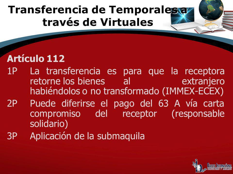 Transferencia de Temporales a través de Virtuales