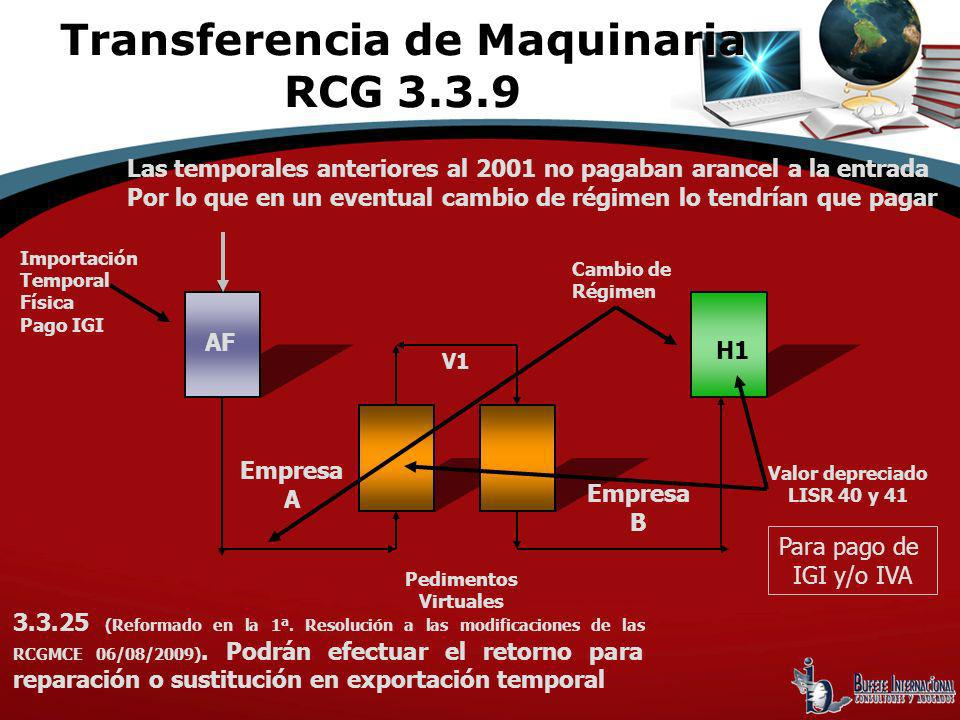 Transferencia de Maquinaria RCG 3.3.9