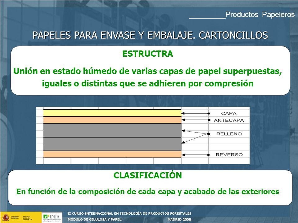En función de la composición de cada capa y acabado de las exteriores