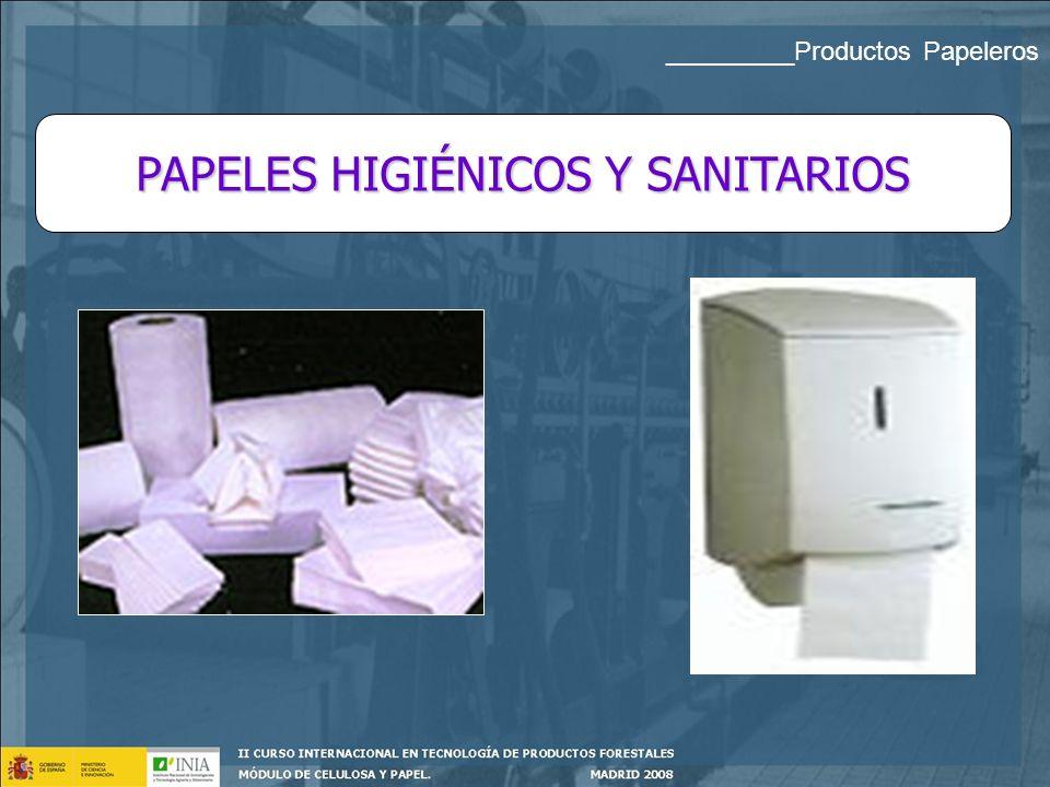 PAPELES HIGIÉNICOS Y SANITARIOS