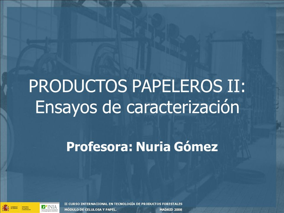 Profesora: Nuria Gómez