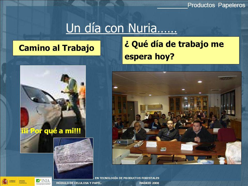 Un día con Nuria…… ¿ Qué día de trabajo me espera hoy