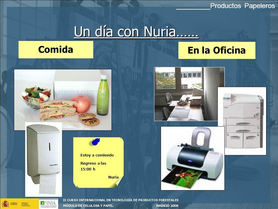 Un día con Nuria…… Comida En la Oficina _________Productos Papeleros