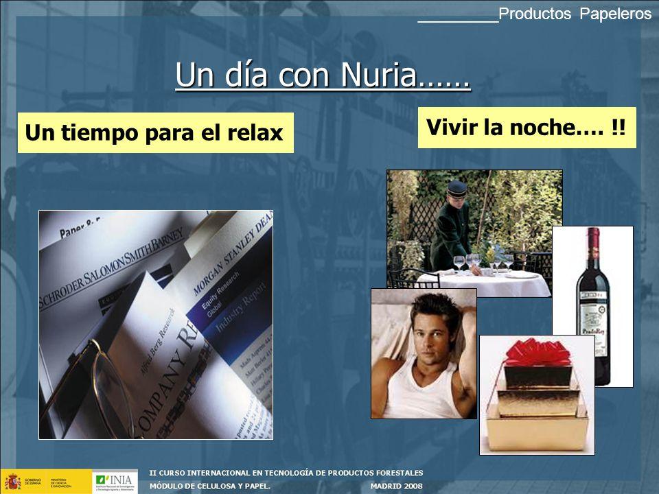 Un día con Nuria…… Vivir la noche…. !! Un tiempo para el relax