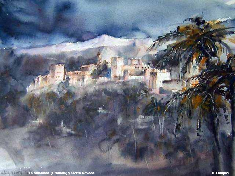 La Alhambra (Granada) y Sierra Nevada.