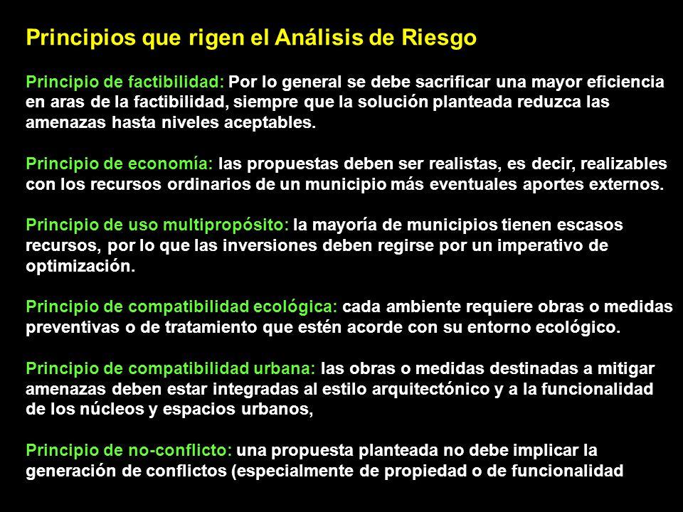 Principios que rigen el Análisis de Riesgo