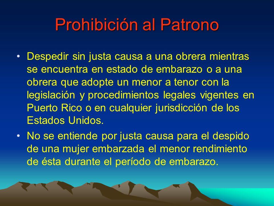 Prohibición al Patrono