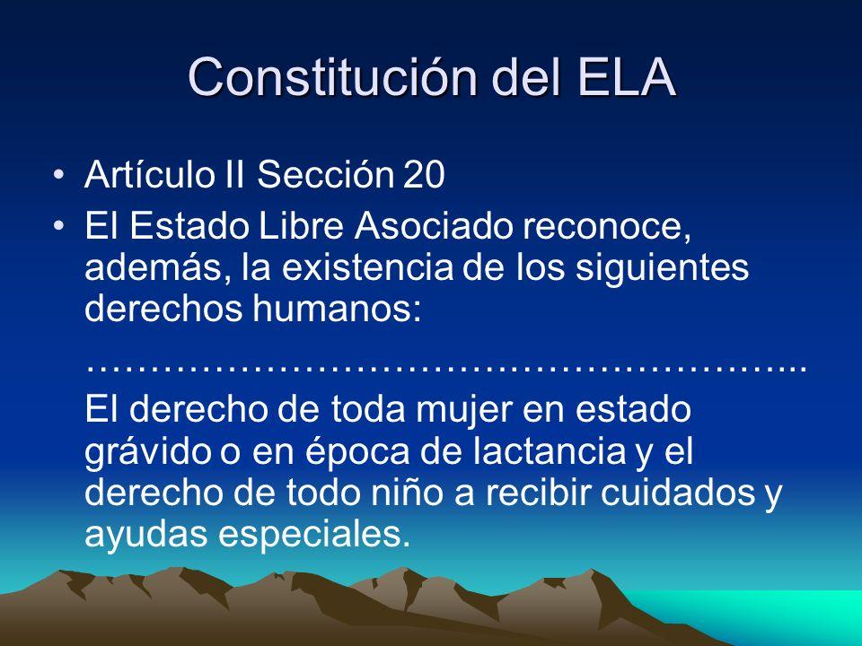 Constitución del ELA Artículo II Sección 20