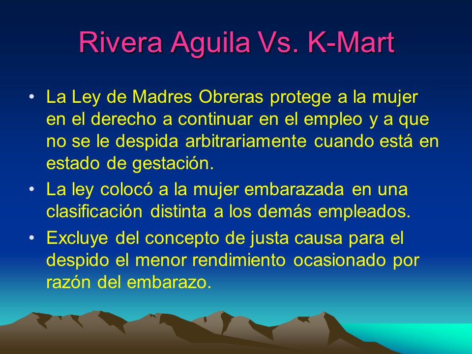 Rivera Aguila Vs. K-Mart
