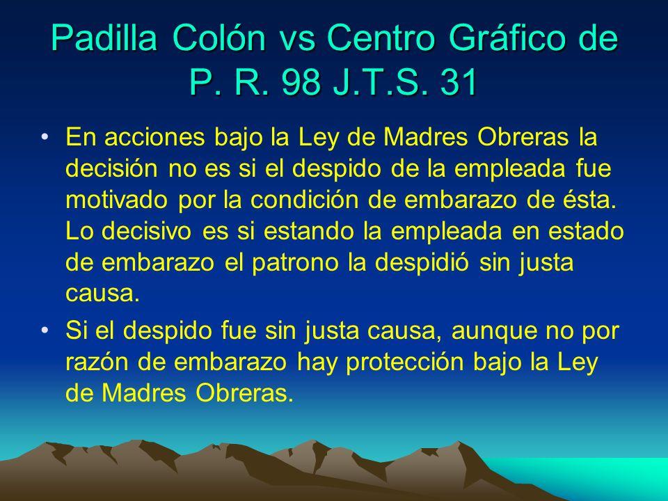 Padilla Colón vs Centro Gráfico de P. R. 98 J.T.S. 31