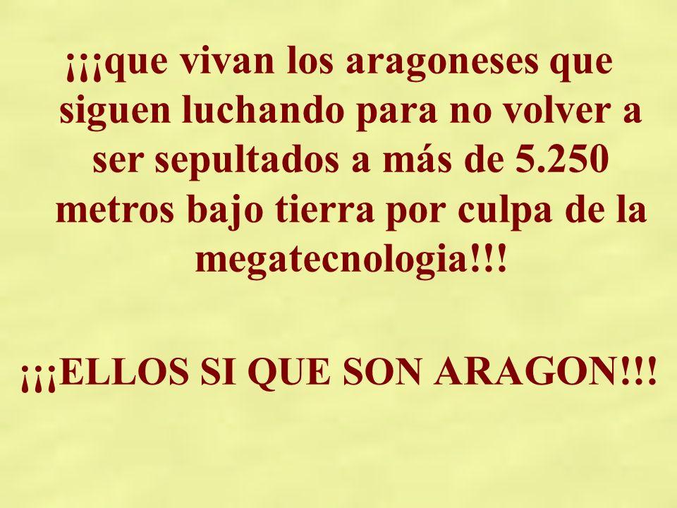 ¡¡¡ELLOS SI QUE SON ARAGON!!!