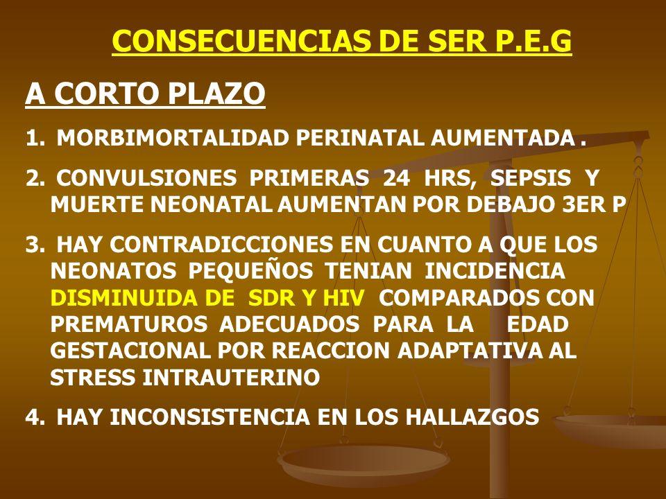 CONSECUENCIAS DE SER P.E.G