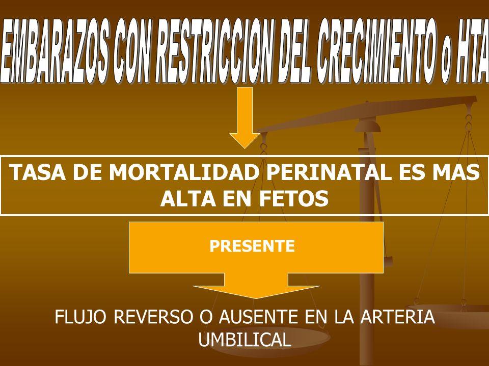 TASA DE MORTALIDAD PERINATAL ES MAS ALTA EN FETOS