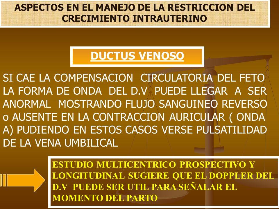 ASPECTOS EN EL MANEJO DE LA RESTRICCION DEL CRECIMIENTO INTRAUTERINO