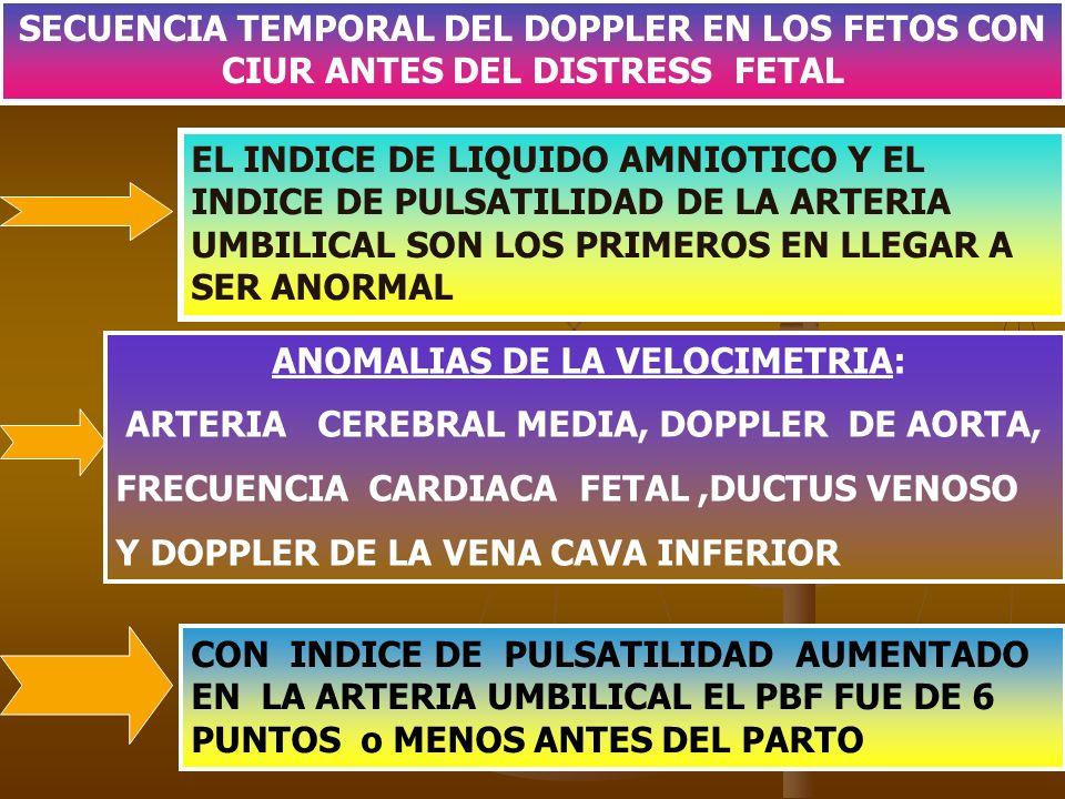 ANOMALIAS DE LA VELOCIMETRIA: