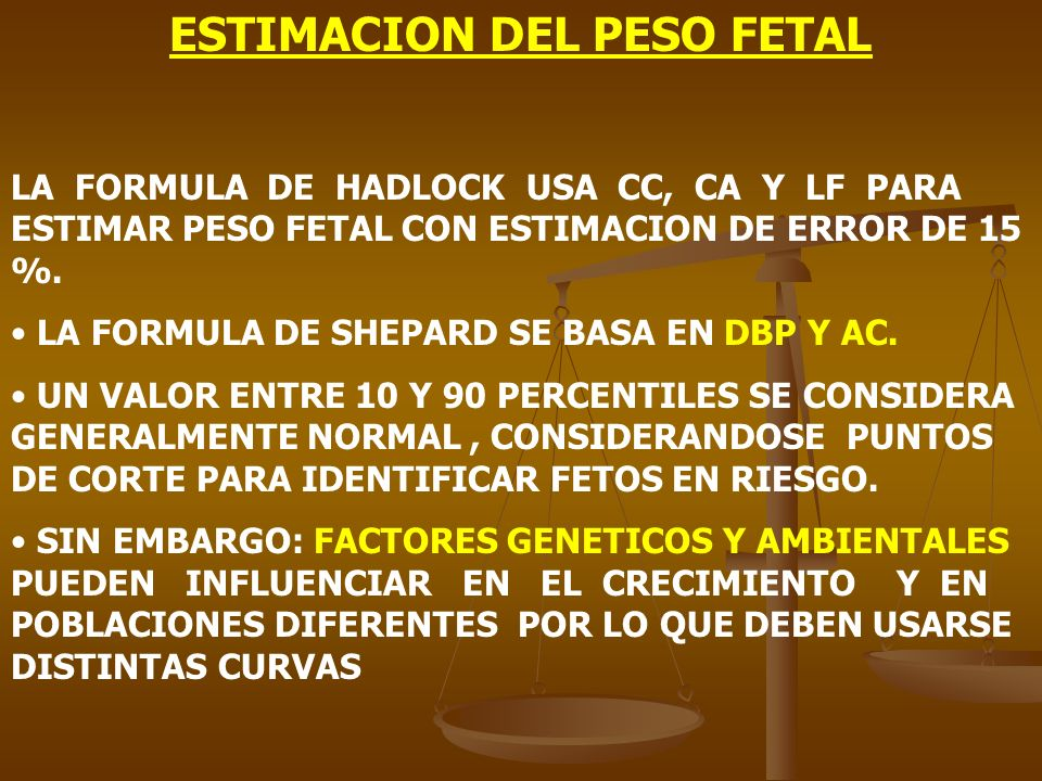 ESTIMACION DEL PESO FETAL
