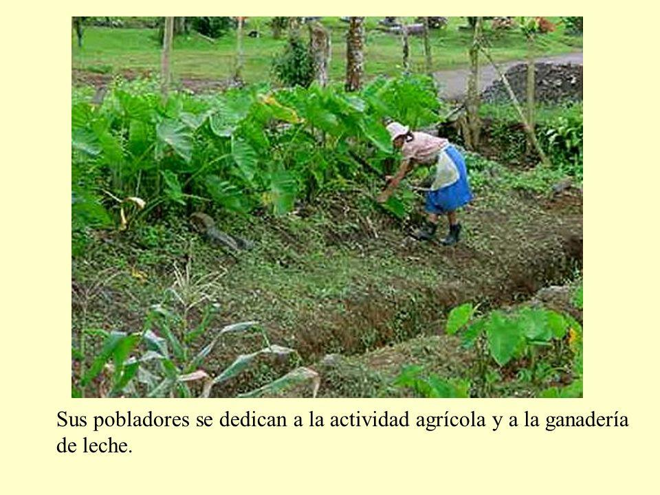 Sus pobladores se dedican a la actividad agrícola y a la ganadería