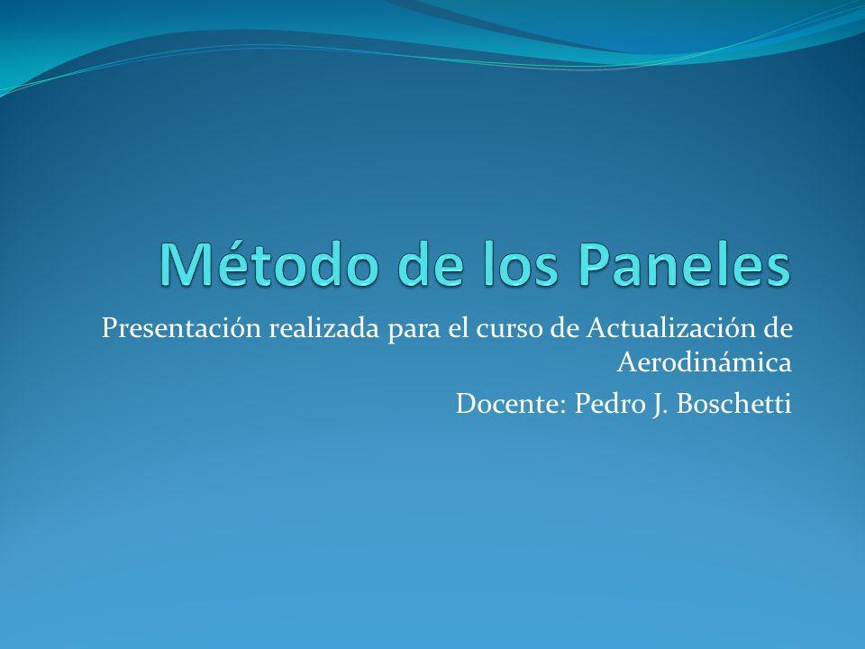 Método de los Paneles Presentación realizada para el curso de Actualización de Aerodinámica.