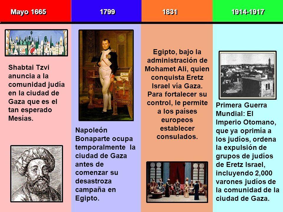 Mayo 1665 1799. 1831. 1914-1917.