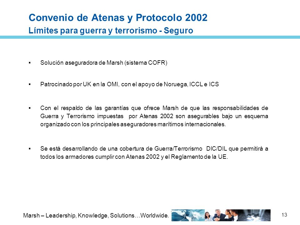 Convenio de Atenas y Protocolo 2002 Límites para guerra y terrorismo - Seguro