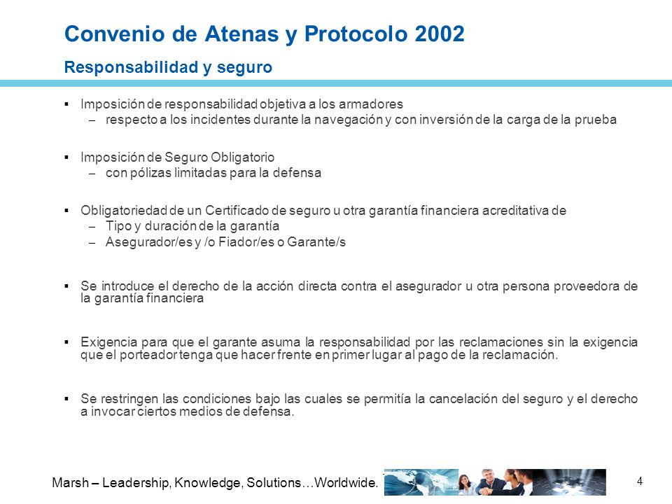 Convenio de Atenas y Protocolo 2002 Responsabilidad y seguro