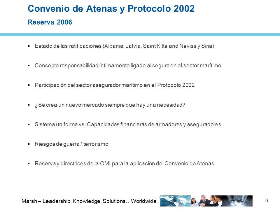 Convenio de Atenas y Protocolo 2002 Reserva 2006