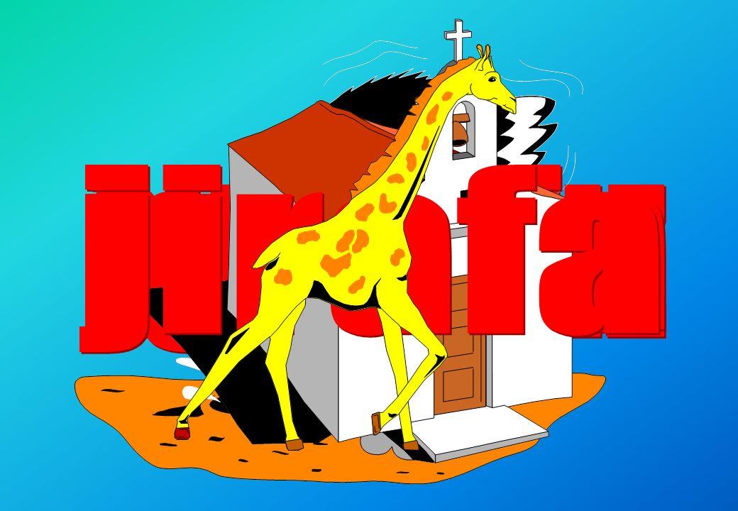 jirafa iglesia avestruz