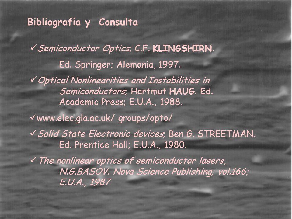 Bibliografía y Consulta