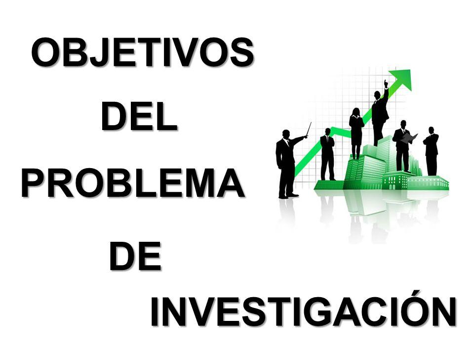 OBJETIVOS DEL PROBLEMA DE INVESTIGACIÓN