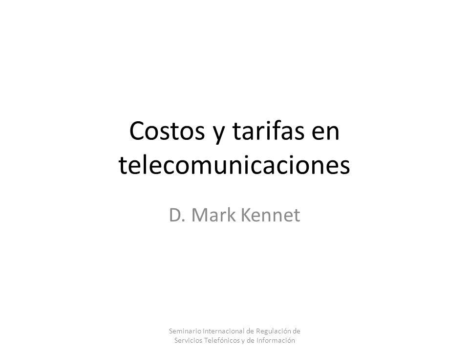 Costos y tarifas en telecomunicaciones
