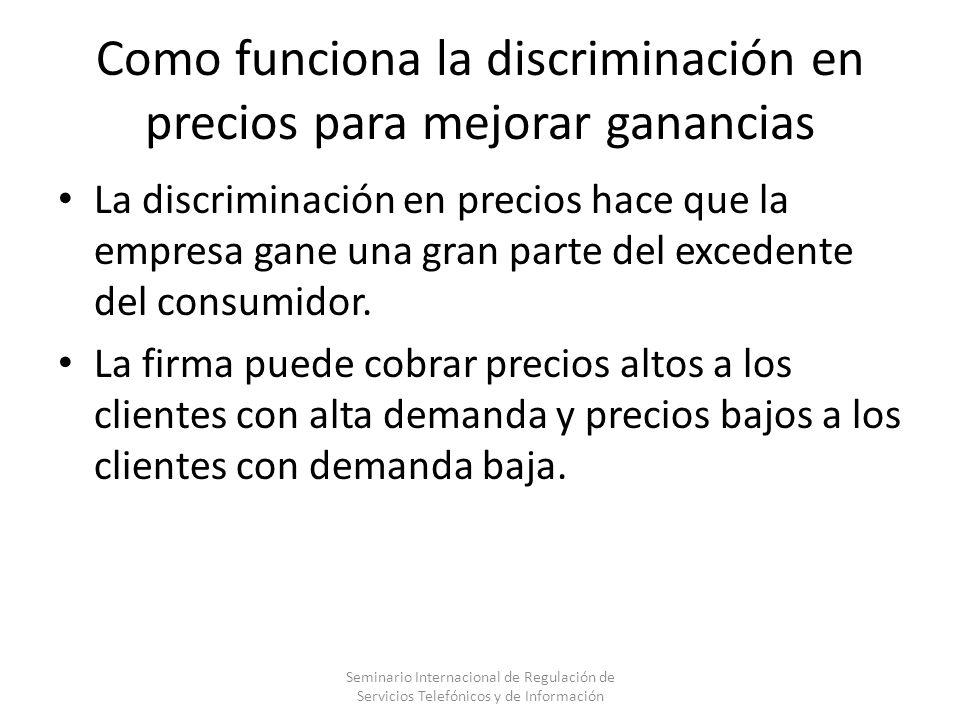 Como funciona la discriminación en precios para mejorar ganancias
